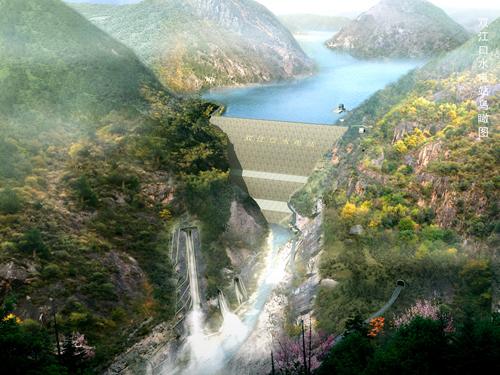 Shuangjiangkou_Dam_rendition